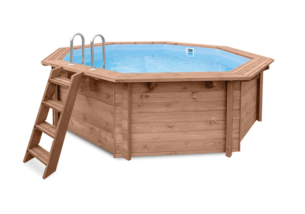 Piscines octogonales en bois harmo pool for Thermometre piscine original