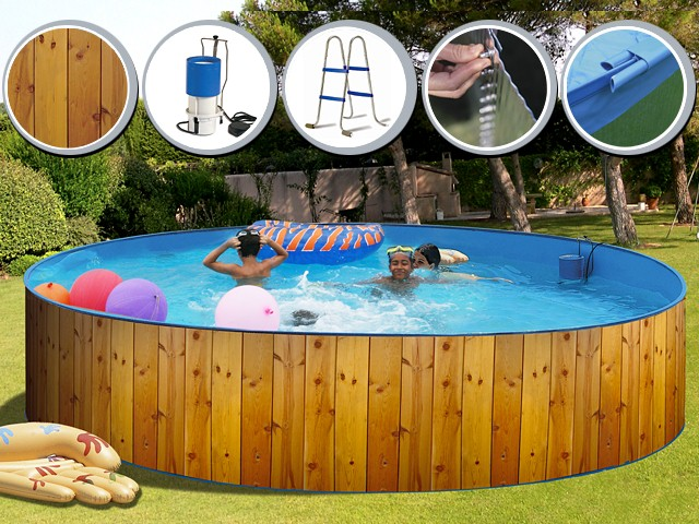 Veta ronde d coration bois toi for Thermometre piscine original