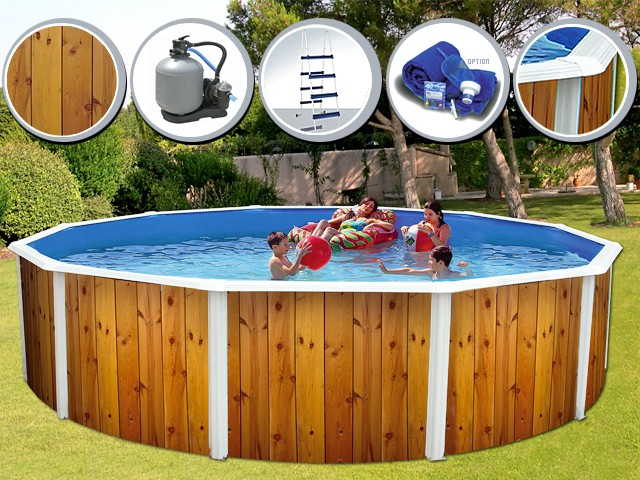 Veta ronde dcoration bois toi for Thermometre piscine original