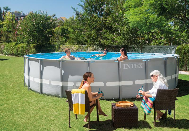 Intex ultra frame ronde intex for Prix piscine intex
