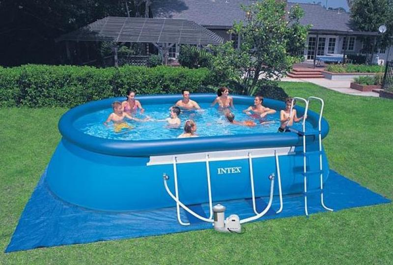 Piscine gonflable ovale pas cher intex - Ph piscine trop bas ...