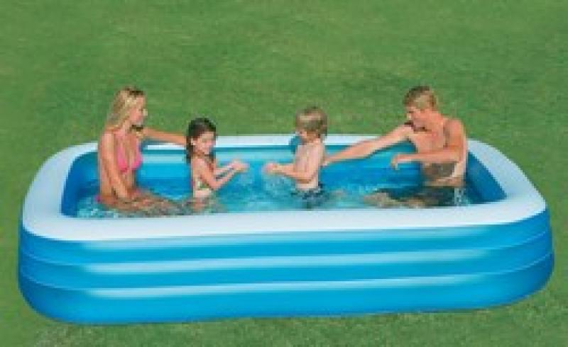 Piscine gonflable intex 58484 for Piscine gonflable rectangulaire pas cher