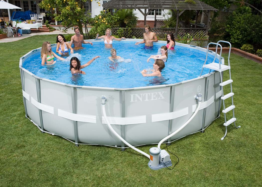 Intex ultra frame ronde intex for Piscine intex liner
