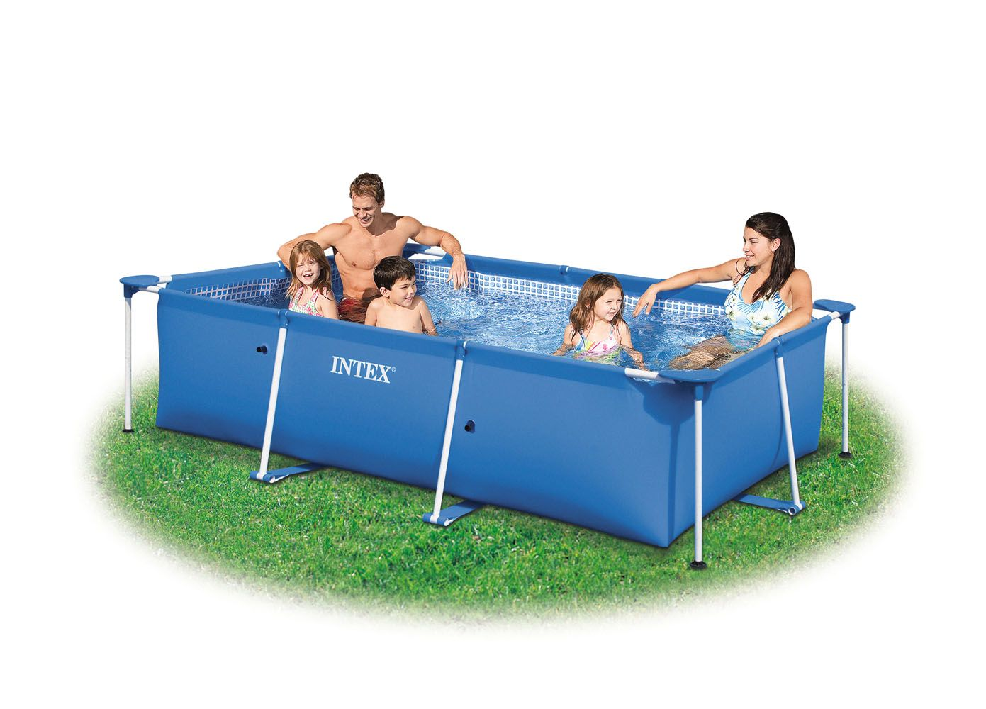 Piscine rectangulaire hors sol intex intex for Piscine gonflable auchan