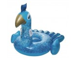 Inflatable peacock mattress - 78x64,5